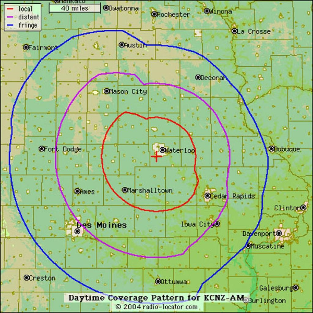 Cyclone Radio Network Affiliates And Coverage Maps Iowa State - Map of iowa cities