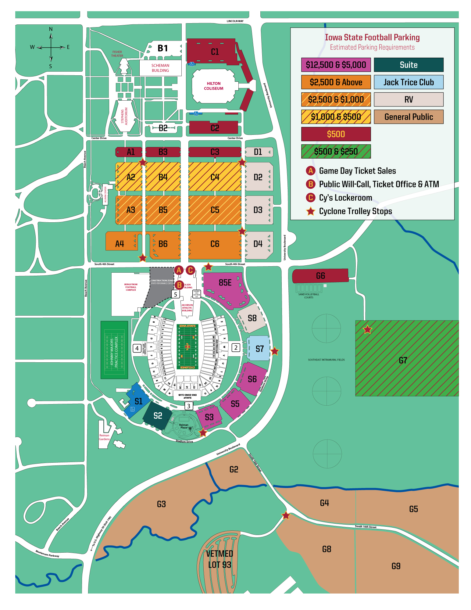 Iowa State University Athletics - Official Athletics Website on richmond parking map, xavier parking map, hofstra parking map, drake parking map, bradley parking map, memphis parking map, miami of ohio parking map, bucknell parking map, school of mines parking map, illinois state history, northern iowa parking map, nebraska parking map, coastal carolina parking map, utah parking map, gonzaga parking map, army parking map, ipfw parking map, uc irvine parking map, semo parking map, mississippi parking map,